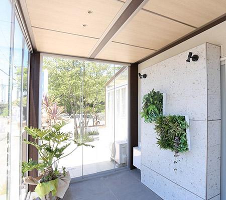 UEBANE(アーベイン)外構|庭造り|三重県津市|サンルーム